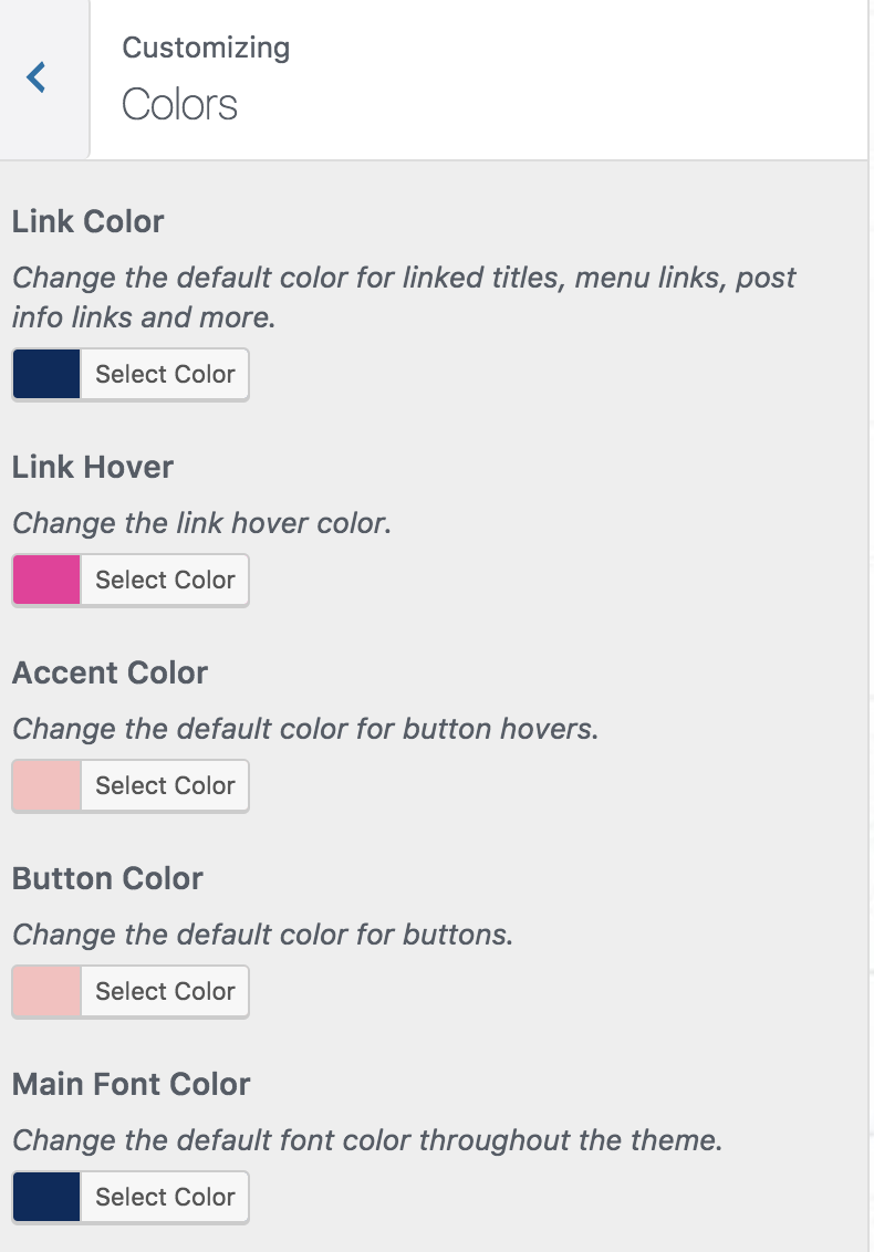 Customizing Your Theme Colors