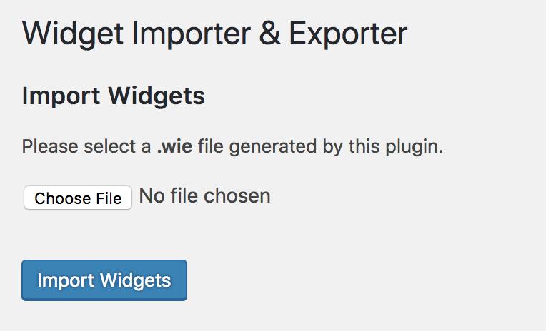 Import Pretty Fabulous Widget Settings