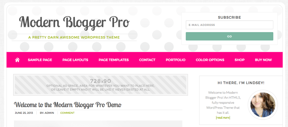 Modern Blogger Pro Ad Space and After Entry Widget