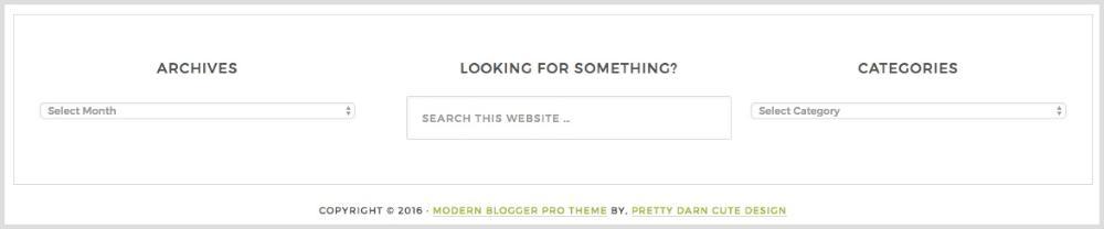Modern Blogger Pro Footer Widgets