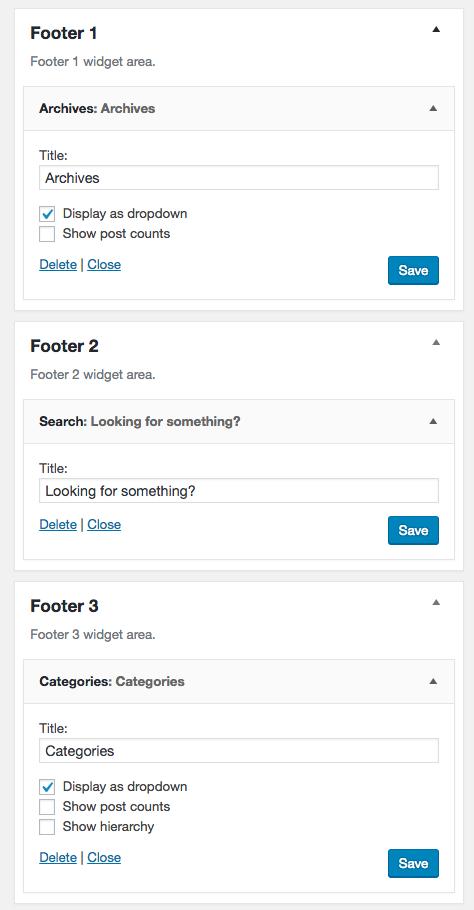Modern Blogger Pro Footer Widgets 1
