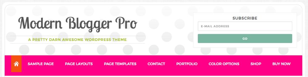 Modern Blogger Pro Header Right Widget Area 1