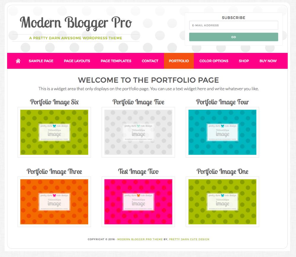 Modern Blogger Pro Portfolio Page