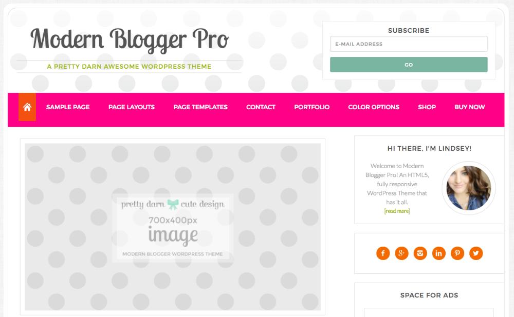 Modern Blogger Pro Slider