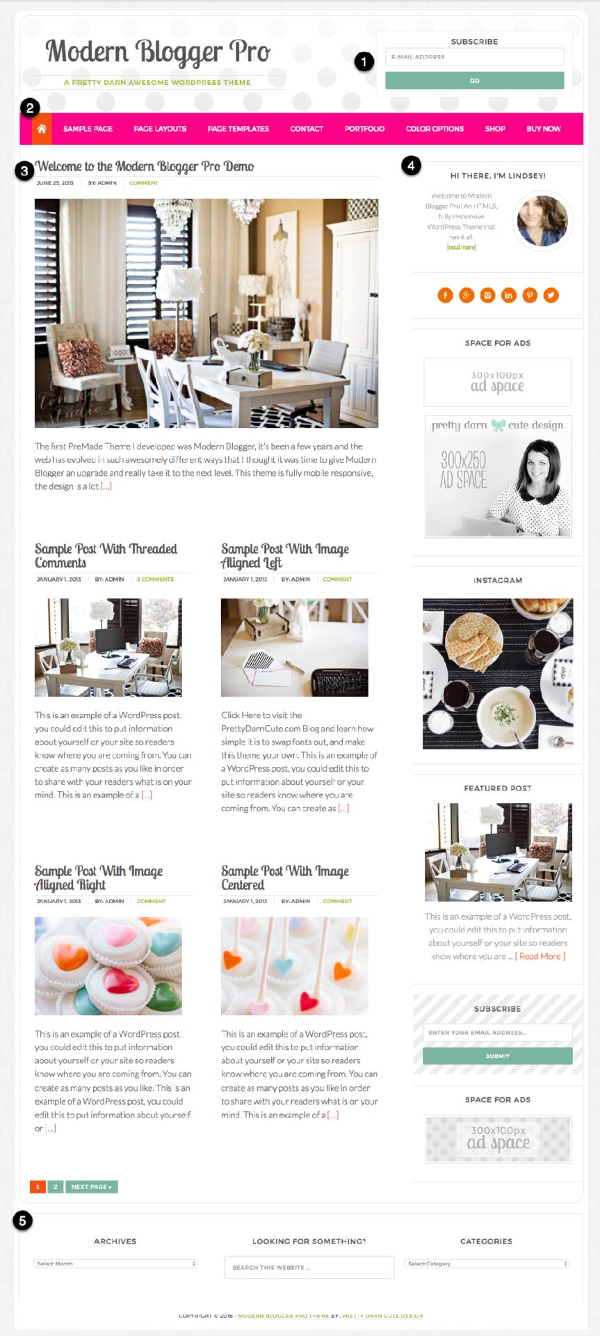 Modern Blogger Pro Visual Guide