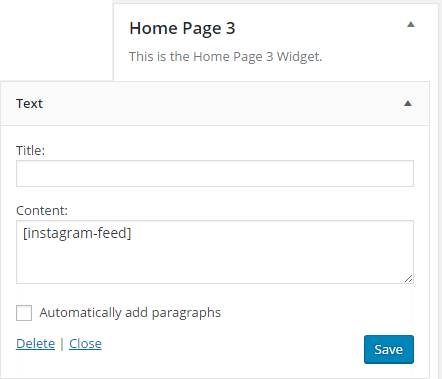 Pretty Creative Home Page 3 Widget Area