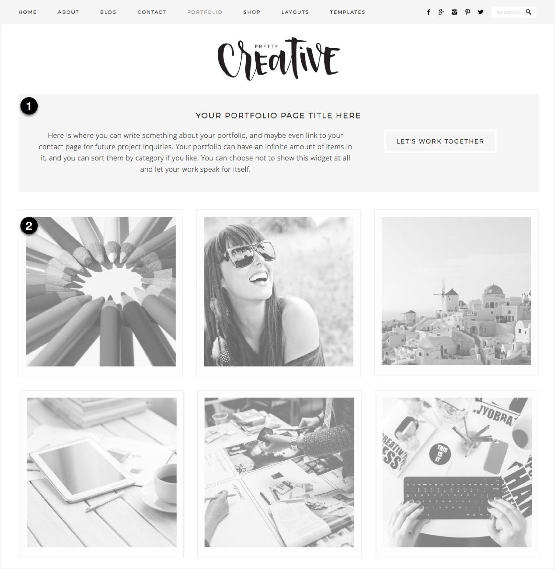 Pretty Creative Portfolio Page