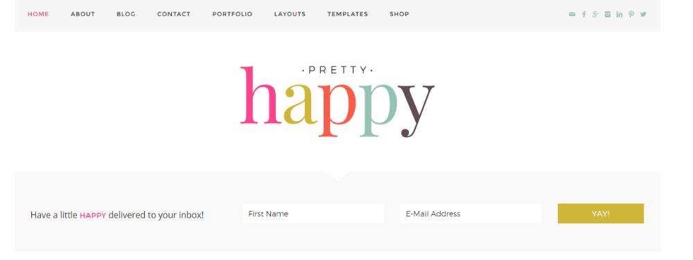 Pretty Happy Home Subscribe Widget