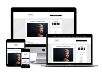 Pretty Jane WordPress Theme Mockup