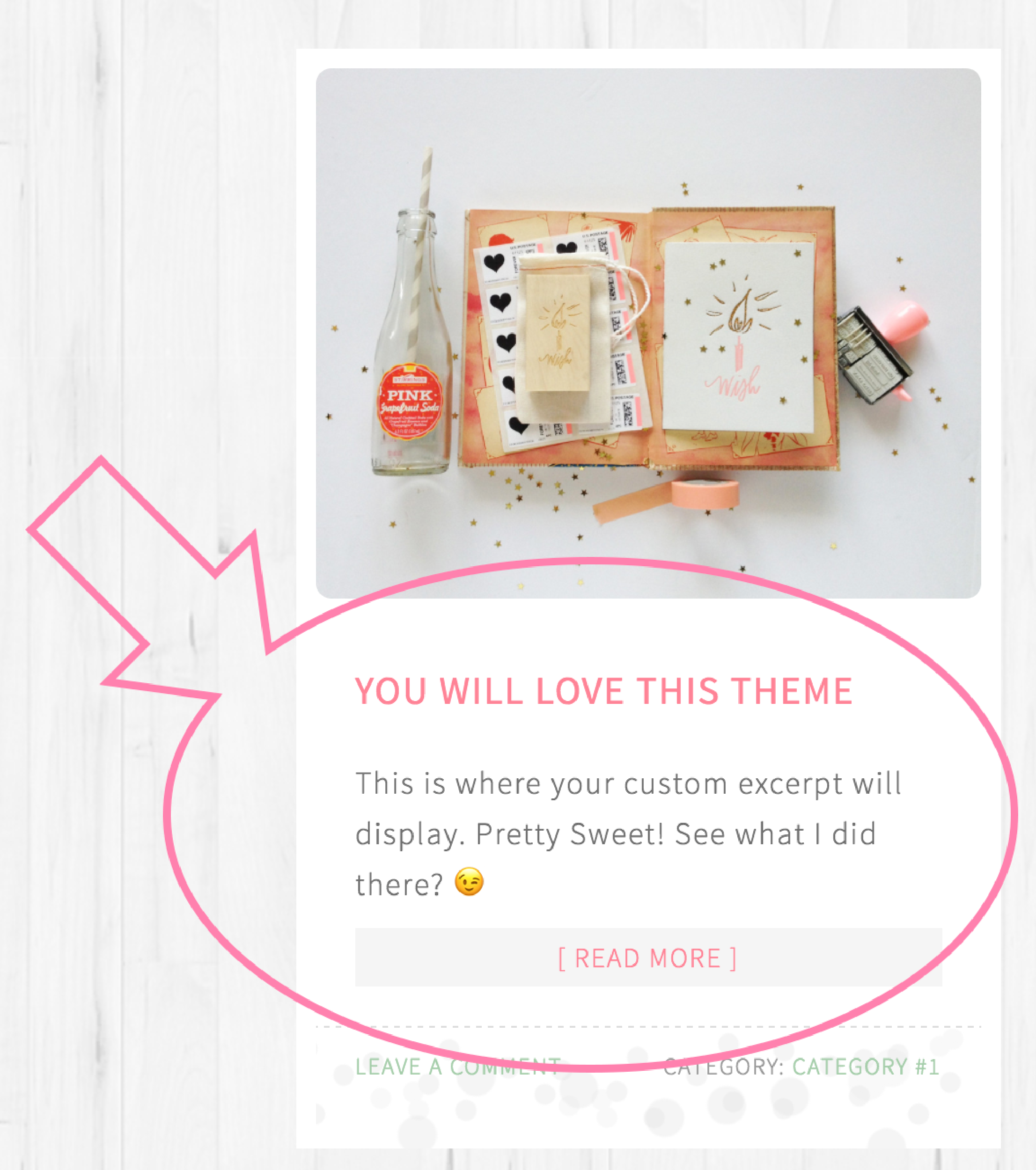 Pretty Sweet Theme Custom Excerpts