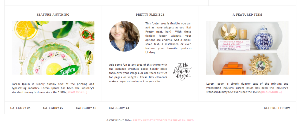 Pretty Theme Footer One