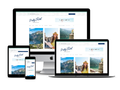 Pretty Travel Theme Mockup