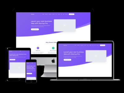 Startup Pro Theme Mockup