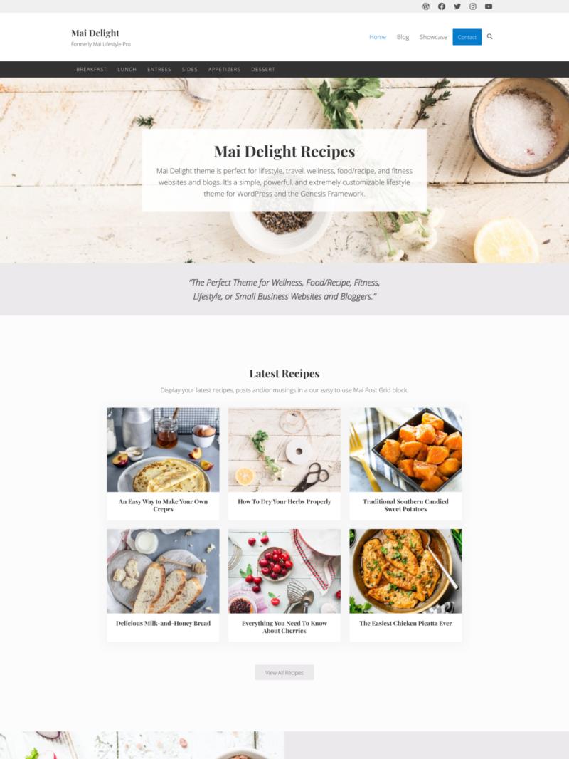Mai Delight theme screenshot
