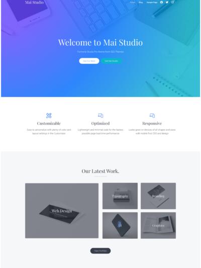 Mai Studio theme for WordPress